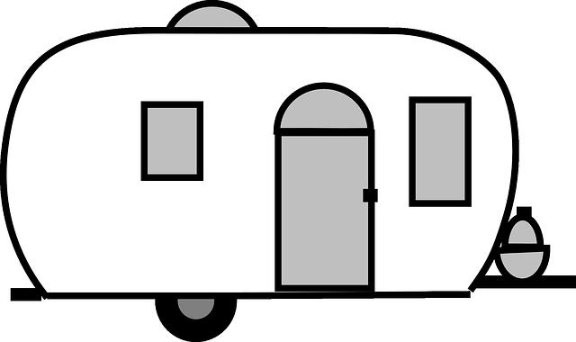 načrtnutý karavan